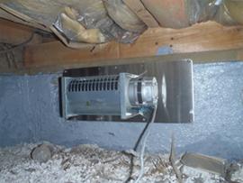 床下換気扇排気型